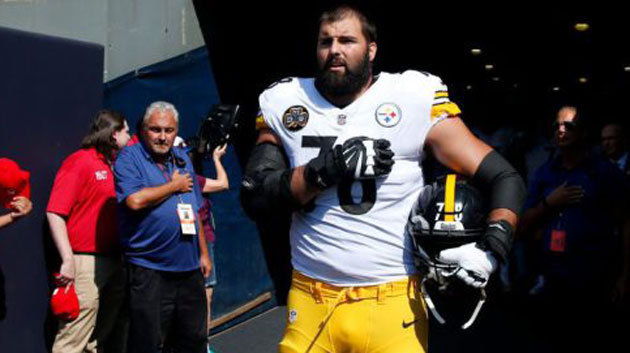 8468948d7ce Steelers tackle Alejandro Villanueva apologizes for  embarrassing  solo  national anthem moment