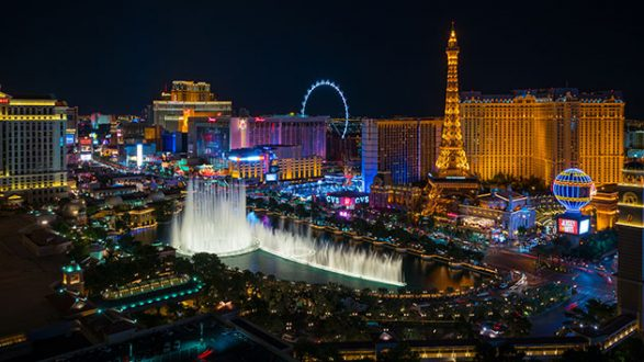 IStock/Thinkstock(LAS VEGAS)    Las Vegasu0027 Bright Lights Dimmed Sunday  Night, Exactly One Week After A Mass Shooting Killed 58 People And Injured  Hundreds ...