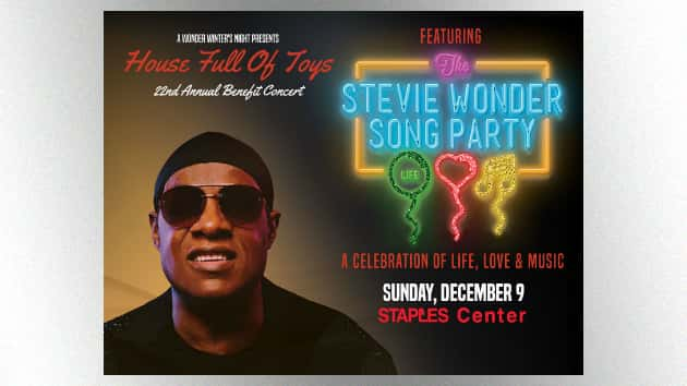 9cb5b3d6834 Stevie Wonder s House Full of Toys benefit concert returning to L.A. s  Staples Center this year