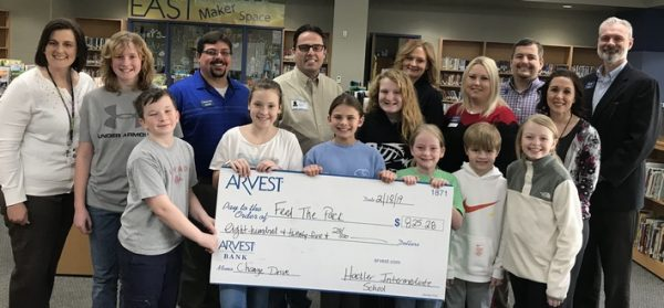 Hackler Intermediate students collect $825 to provide 4,125 meals