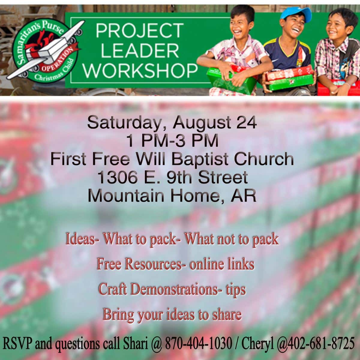Operation Christmas Child 2019 Dates.Operation Christmas Child Project Leader Workshop Ktlo Llc