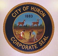 The corporate seal for the city of Huron SD
