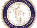 South Dakota Supreme Court emblem on white background