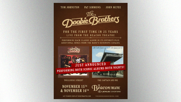 """The Doobie Brothers' Tom Johnston expects to have """"a lot of fun"""" at band's historic full-album performances in NYC"""