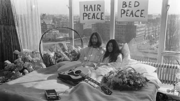 "Hilton hotels launch video series celebrating 50th anniversary of John & Yoko's Amsterdam ""Bed-In for Peace"""