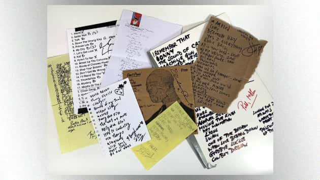 The Who, R.E.M., The Pretenders and more stars auctioning set lists to support youth writing programs
