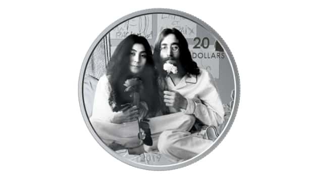 """Canadian mint producing silver coin commemorating 50th anniversary of John Lennon's """"Give Peace a Chance"""""""