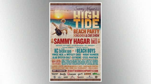 Daily lineups announced for Sammy Hagar's second annual High Tide Beach Party & Car Show