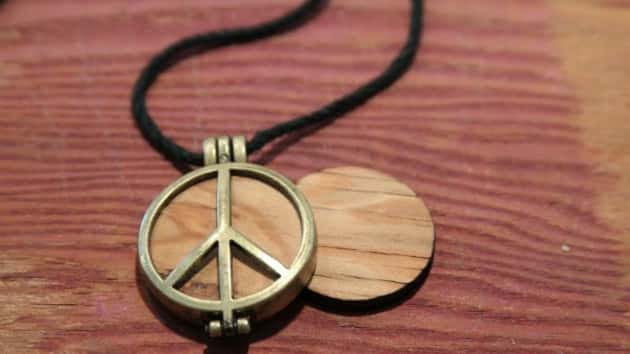 Peace of Stage company presenting Woodstock collectibles to artists performing at festival's site this weekend