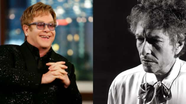 "Tangled Up in Blue Jean Baby: Elton John explains to Bob Dylan how he wrote ""Tiny Dancer"""