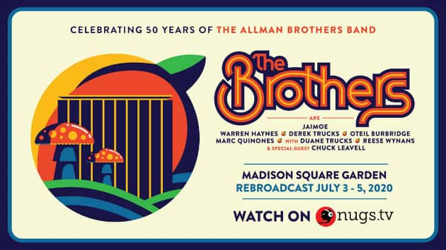 Allman Brothers Band 50th anniversary tribute concert being rebroadcast this weekend on nugs.tv