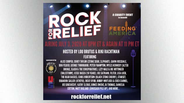 Alice Cooper, Peter Frampton among artists participating in Rock for Relief streaming event tonight