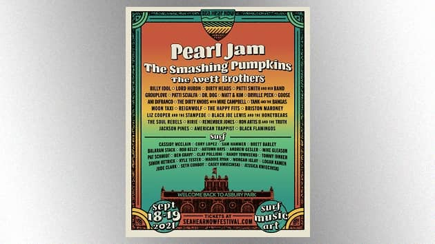 Billy Idol, Patti Smith, Mike Campbell confirmed to play 2021 Sea.Hear.Now Festival