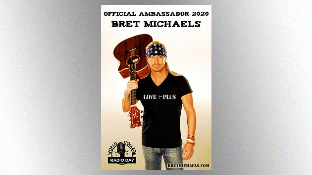 Poison's Bret Michaels to serve as ambassador for 2020 World College Radio Day