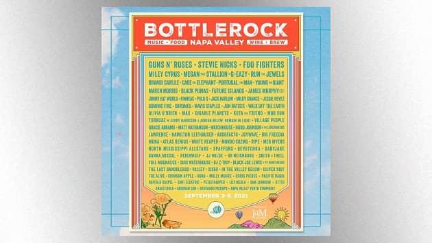 Stevie Nicks, Guns N' Roses among artists headlining 2021 BottleRock Napa Valley festival