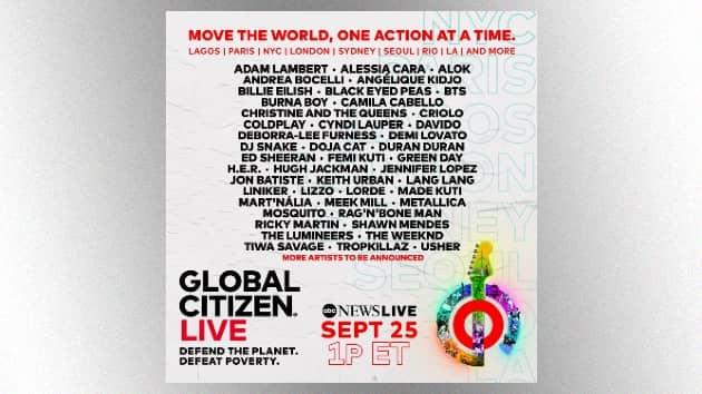 Watch Elton John, Stevie Wonder & more perform around the world Saturday during Global Citizen Live event