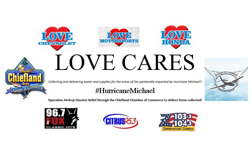LOVE Cares ~ Hurricane Michael Disaster Relief Drive