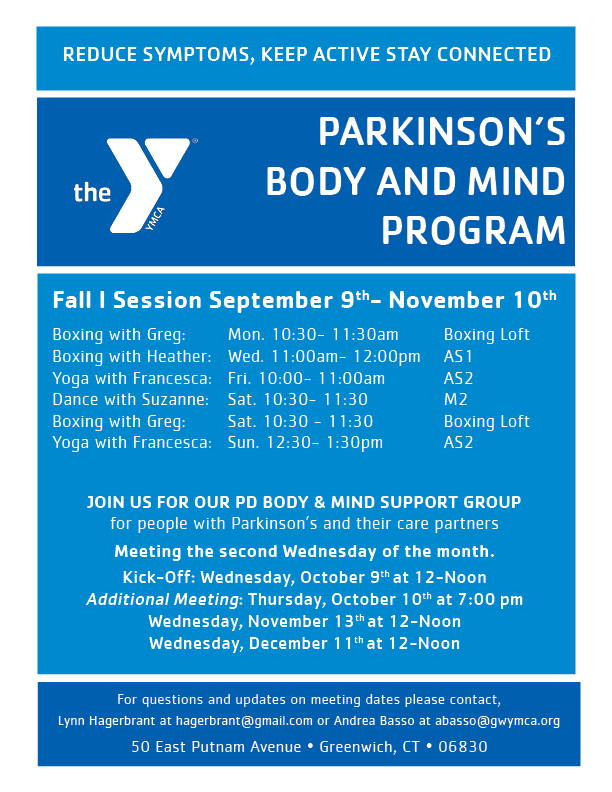 Parkinson's Body & Mind Support Group @ YMCA of Greenwich | Greenwich | Connecticut | United States