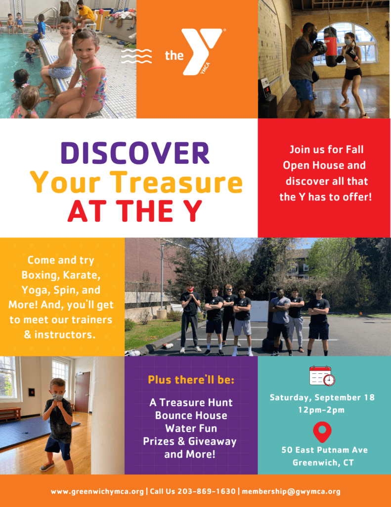 Discover Your Treasure at the Y: Fall Open House @ Greenwich YMCA