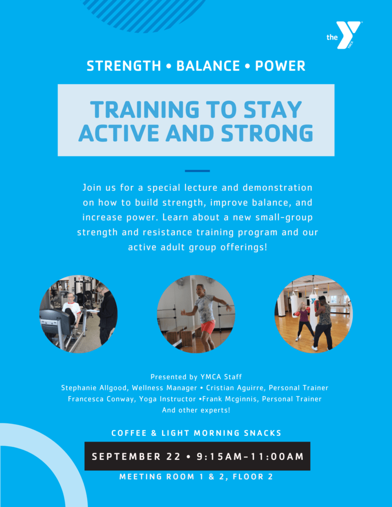 Training to Stay Active and Strong @ YMCA of Greenwich