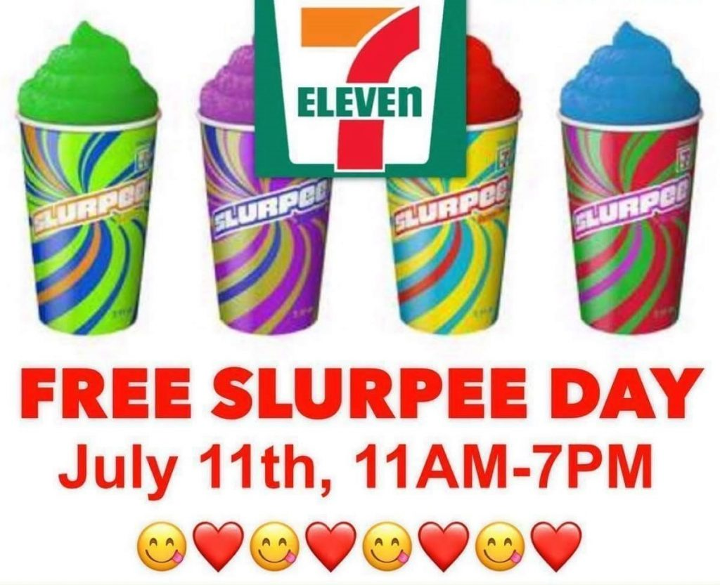 Heads Up Tomorrow Is  Making It Free Slurpee Day Todays   More Fm Philadelphia