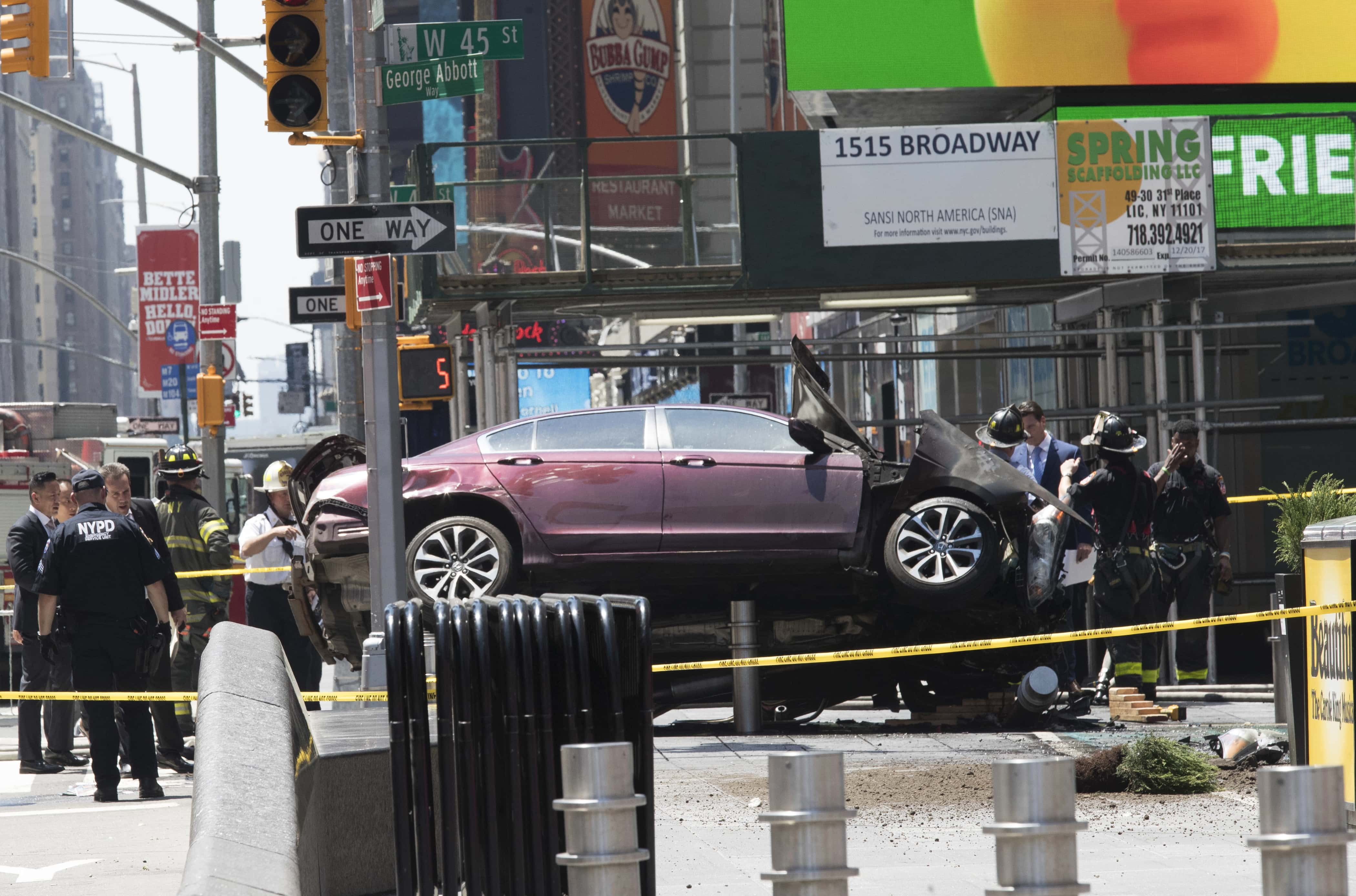 breaking news: car smashes into pedestrians in times square | ksro