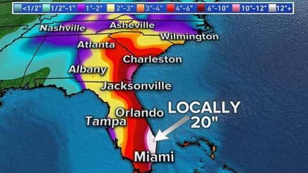 dangerous winds, storm surge threaten florida even as