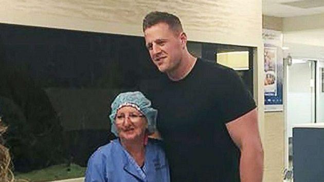 NFL Star JJ Watt Visits Santa Fe Shooting Survivors At