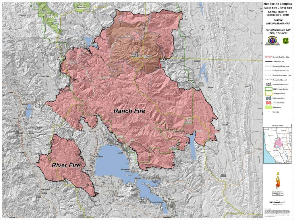 Calfire Expects Full Containment Of The Mendocino Complex Fire This