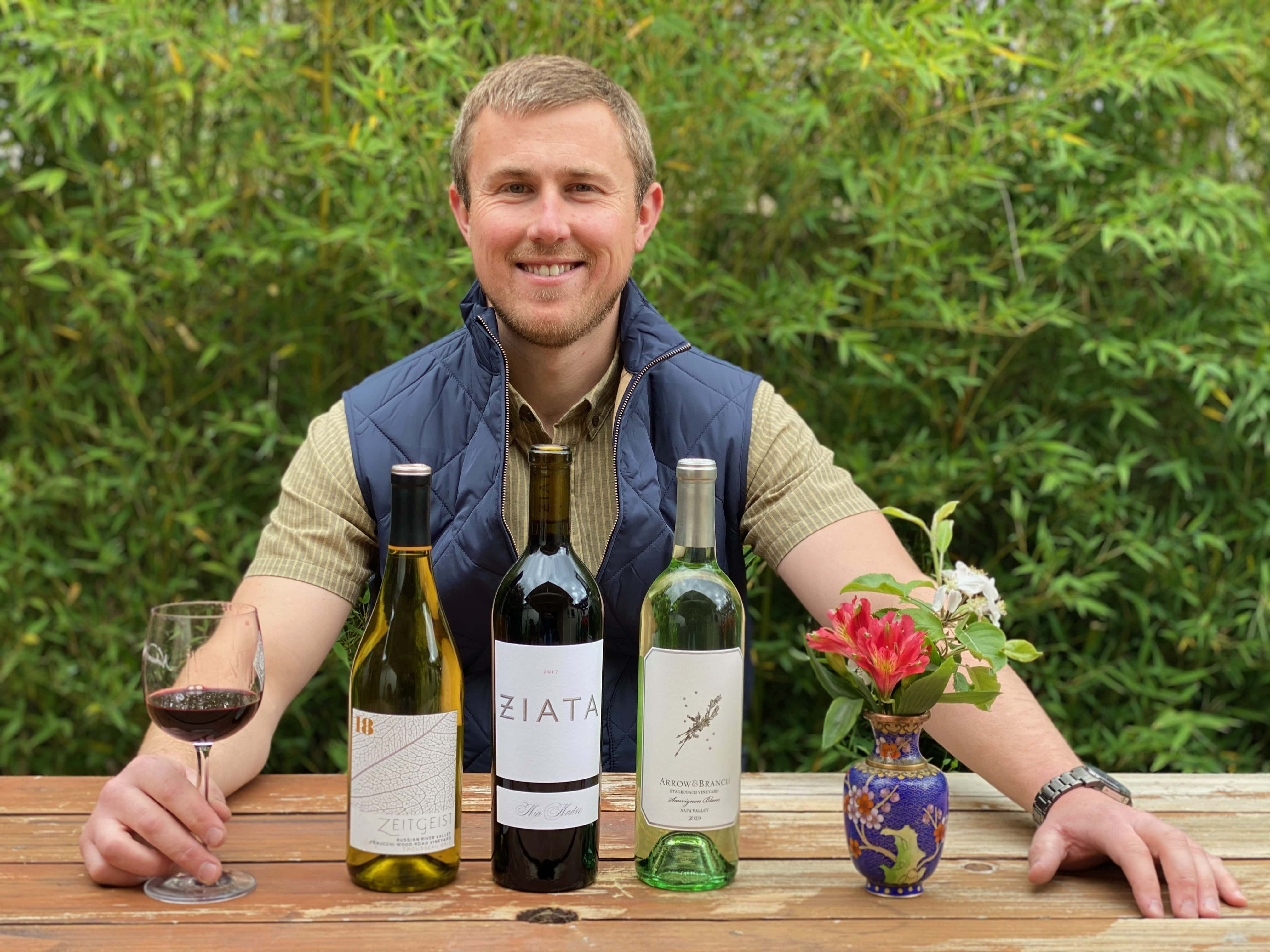 Asst. winemaker Mike Tracy