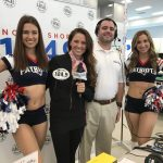 Erika, Mike and the Patriots Cheerleaders