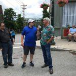Matt interviewing Mayor Ken Gray