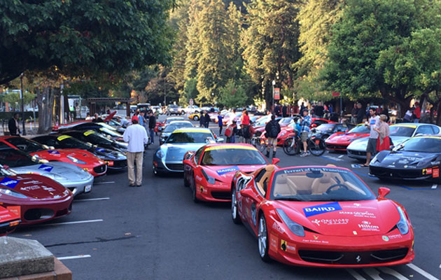 Ferrari MakeAWish Car Show Froggy Todays Country - Ferrari car show