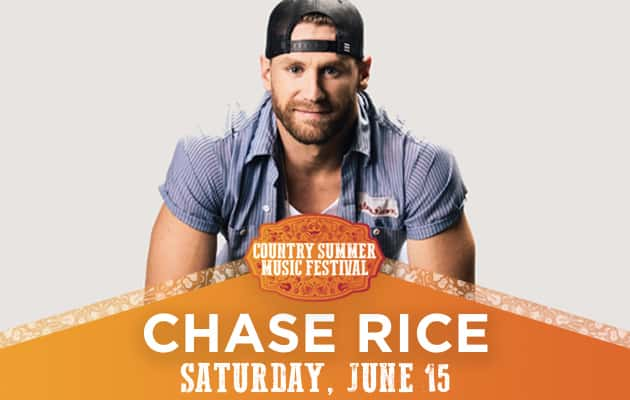 Chase Rice Coming To Country Summer Saturday June 15th