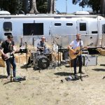 Artist Jared Porter and his band backstage at the Fender Guitars airstream trailer prior to the show at Country Summer 2015 in Santa Rosa, CA. Jared won a contest sponsored by Fender to open the event, and flew all the way from his native Australia to be at the show. (Photo: Will Bucquoy)