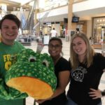 Amber and Tanner with some frog suit prank at the Santa Rosa Plaza Mall.