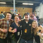 Amber and Tanner at their first Battle of the Brews at the Grace Pavilion at the Sonoma County Fairgrounds.