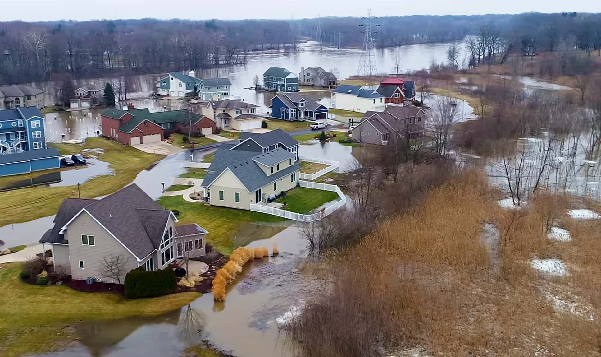 Drone Pilot Delivers Remarkable View of Flood Damage Around