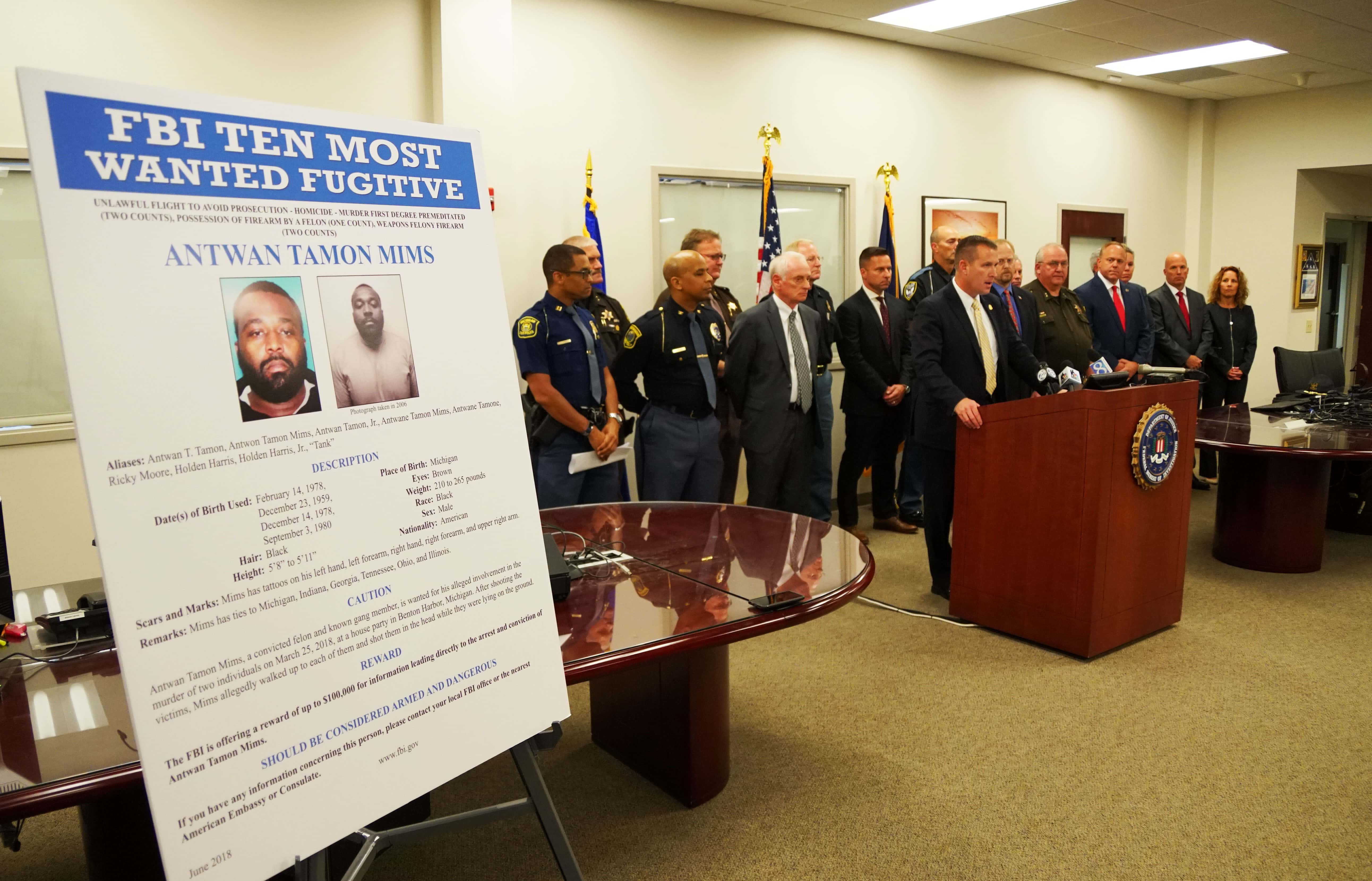 Accused BH Murder Suspect Named to FBI's Ten Most Wanted Fugitives