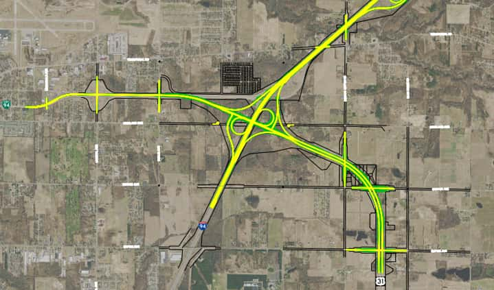 Us 31 Project Map MDOT Launches $122.5 M Project Connecting I 94 & US 31 Next Week