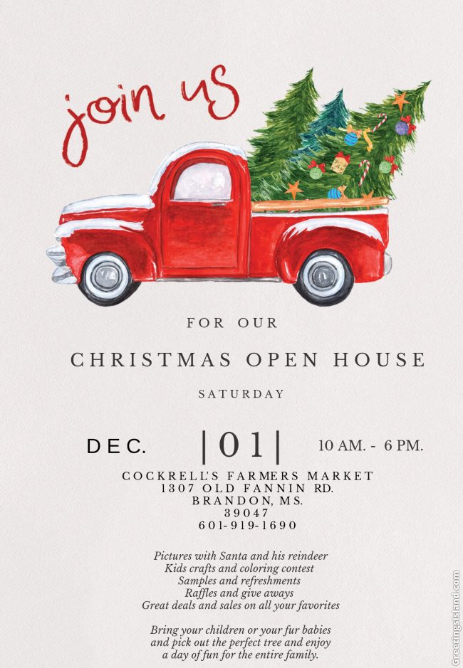 Christmas Open House.Cockrell S Christmas Open House 93 5 The Legend