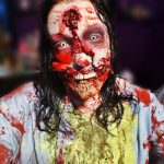 TOXIC BARFING ZOMBIE: Happy Halloween! A fun look I did for our home haunt. I was feeling beautifully disgusting!