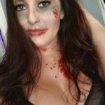 Zombie Mama: Zombie makeup is one of my favorite things to do!! Happy Halloween from this zombie fanatic!