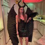 Maleficent: Made each feather by hand. They open and close with an actuator on each side. Become 12 foot wing span. Maleficent took me three months to create!