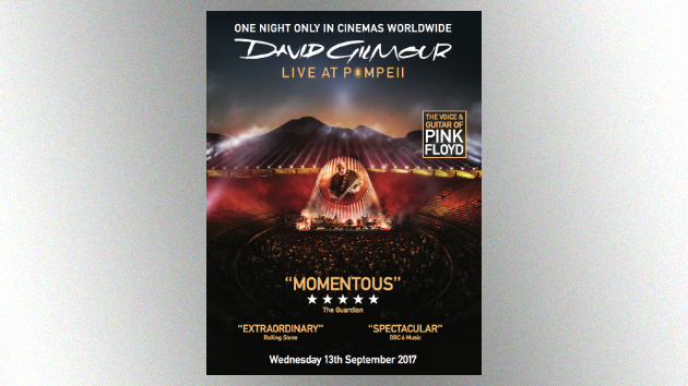 concert film capturing david gilmour 39 s 2016 pompeii performances coming to theaters this fall. Black Bedroom Furniture Sets. Home Design Ideas