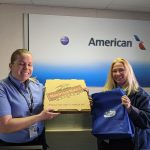 Congratulations to Heather and the team at American airlines in Santa Rosa! I Danny  brought them free lunch from Mountain Mike's Pizza and goodies from #AmysWickedSlush and 97.7 The River - Classic Rock For The North Bay! #FreeloaderFriday