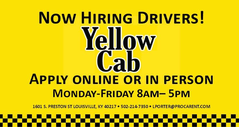 Yellow Cab- Drive for Us | Yellow Cab Louisville