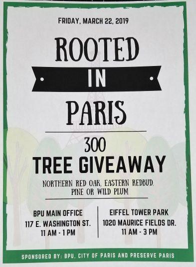 City of Paris, BPU To Host Tree Giveaway | WENK-WTPR | KFKQ