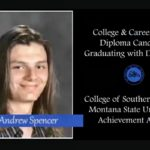 Andrew Spencer: Andrew is graduating with distinction from Basic Academy with a CCR diploma. He is a three time varsity tennis scholar athlete and first chair guitar ensemble. He also performs and competes with the school