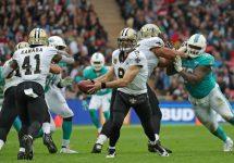 New Orleans Saints Drew Brees Handoff